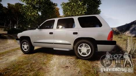 Dodge Durango 2000 Undercover [ELS] для GTA 4 вид слева