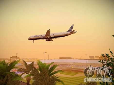 Airbus A321-232 jetBlue La vie en Blue для GTA San Andreas вид сверху