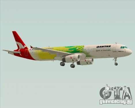 Airbus A321-200 Qantas (Socceroos Livery) для GTA San Andreas вид снизу