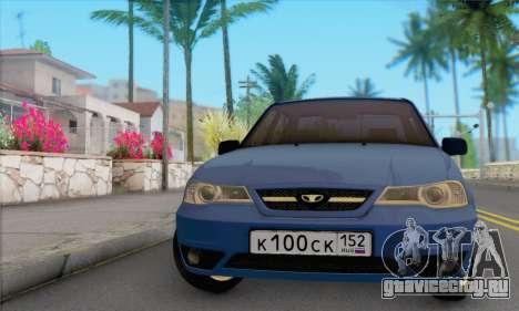 Daewoo Nexia для GTA San Andreas вид сзади слева