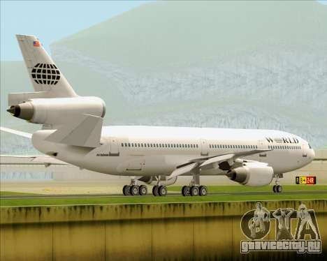 McDonnell Douglas DC-10-30 World Airways для GTA San Andreas вид снизу