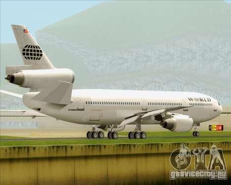 McDonnell Douglas DC-10-30 World Airways для GTA San Andreas вид снизу