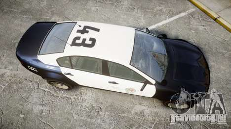 GTA V Cheval Fugitive LS Police [ELS] Slicktop для GTA 4 вид справа