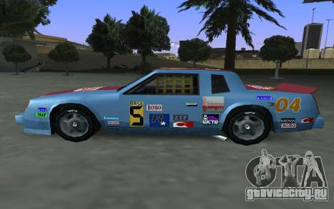 Новые декали и номера Hotring для GTA San Andreas вид сбоку