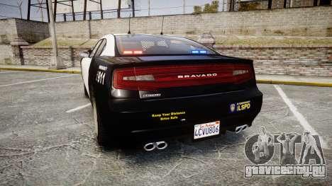 GTA V Bravado Buffalo LS Police [ELS] Slicktop для GTA 4 вид сзади слева