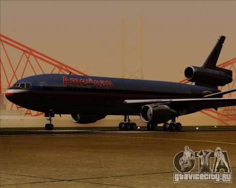 McDonnell Douglas DC-10-30 American Airlines для GTA San Andreas вид сзади слева