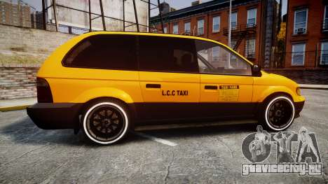 Schyster Cabby Taxi для GTA 4 вид слева
