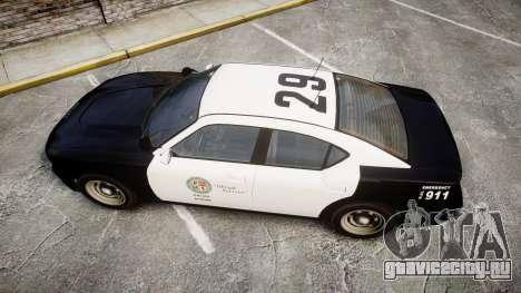 GTA V Bravado Buffalo LS Police [ELS] Slicktop для GTA 4 вид справа