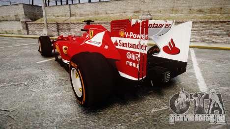 Ferrari F138 v2.0 [RIV] Massa THD для GTA 4 вид сзади слева