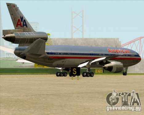 McDonnell Douglas DC-10-30 American Airlines для GTA San Andreas вид снизу