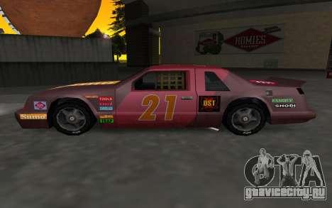 Новые декали и номера Hotring для GTA San Andreas вид слева