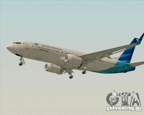 Boeing 737-800 Garuda Indonesia для GTA San Andreas вид изнутри