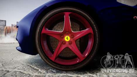 Ferrari FF 2012 Pininfarina Blue для GTA 4 вид сзади