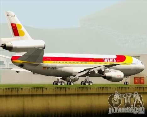 McDonnell Douglas DC-10-30 Iberia для GTA San Andreas вид сзади слева