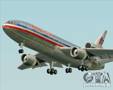 McDonnell Douglas DC-10-30 American Airlines для GTA San Andreas вид слева