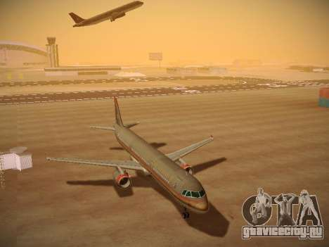 Airbus A321-232 Royal Jordanian Airlines для GTA San Andreas вид сзади