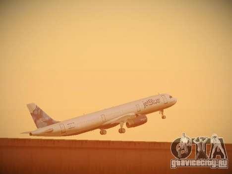 Airbus A321-232 jetBlue La vie en Blue для GTA San Andreas вид снизу