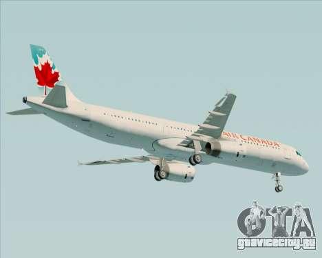 Airbus A321-200 Air Canada для GTA San Andreas вид сзади