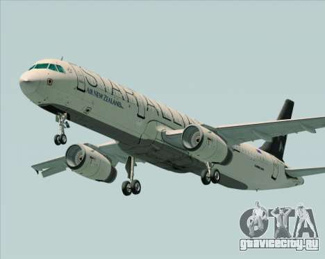 Airbus A321-200 Air New Zealand (Star Alliance) для GTA San Andreas вид изнутри