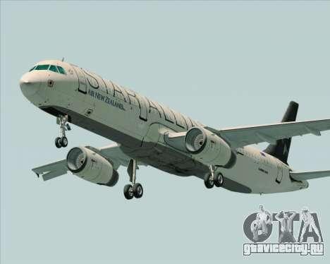 Airbus A321-200 Air New Zealand (Star Alliance) для GTA San Andreas вид изнутри