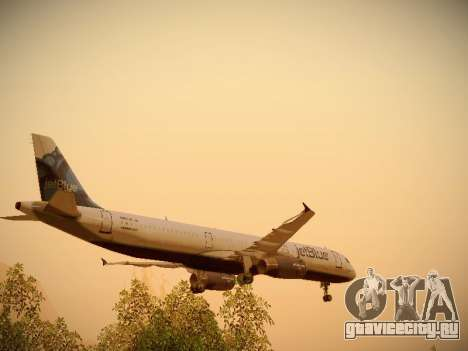 Airbus A321-232 jetBlue La vie en Blue для GTA San Andreas колёса