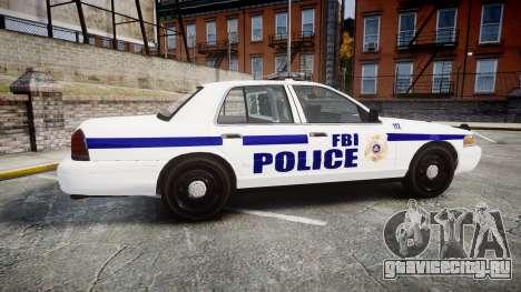Ford Crown Victoria F.B.I. Police [ELS] для GTA 4 вид слева