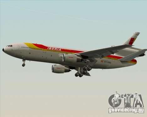 McDonnell Douglas DC-10-30 Iberia для GTA San Andreas вид сбоку