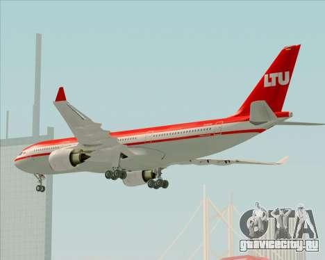 Airbus A330-200 LTU International для GTA San Andreas вид сверху