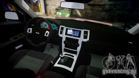 Jeep Grand Cherokee SRT8 rim lights для GTA 4 вид сзади
