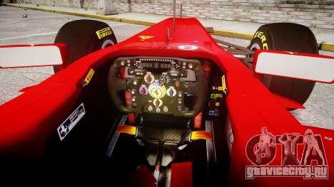 Ferrari 150 Italia Massa для GTA 4 вид сзади