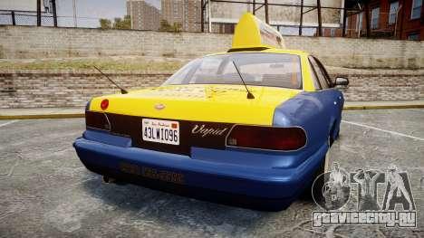 Vapid Stanier Taxi DCC для GTA 4 вид сзади слева