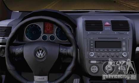 Volkswagen Golf 5 (ELM) для GTA San Andreas вид сзади слева