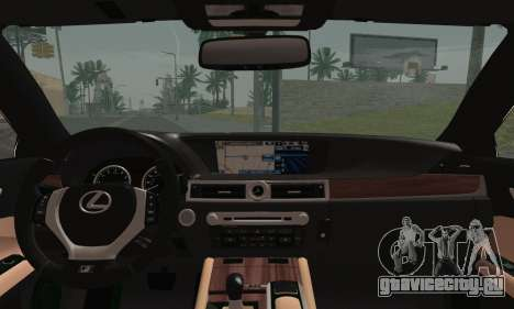 Lexus GS350 F Sport 2013 для GTA San Andreas вид сзади слева