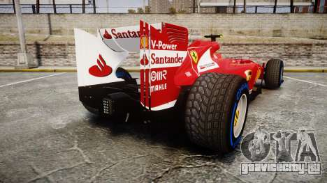 Ferrari F138 v2.0 [RIV] Massa TFW для GTA 4 вид сзади слева
