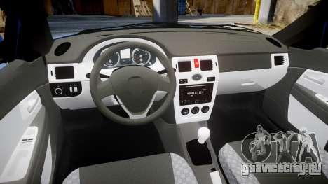 ВАЗ-2170 Приора сток для GTA 4 вид изнутри