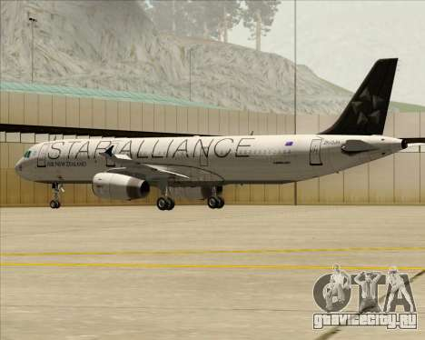 Airbus A321-200 Air New Zealand (Star Alliance) для GTA San Andreas