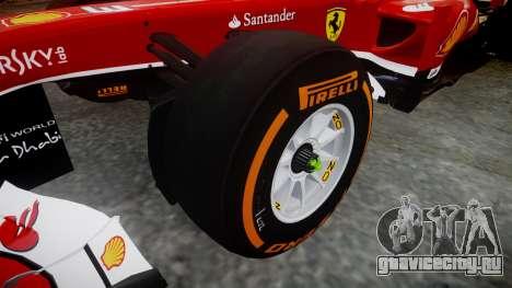 Ferrari F138 v2.0 [RIV] Massa THD для GTA 4 вид сзади