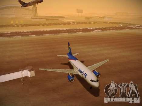 Airbus A319-132 Spirit Airlines для GTA San Andreas вид снизу