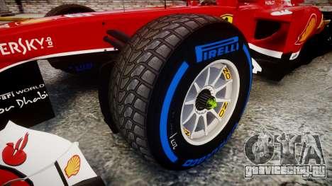 Ferrari F138 v2.0 [RIV] Massa TFW для GTA 4 вид сзади