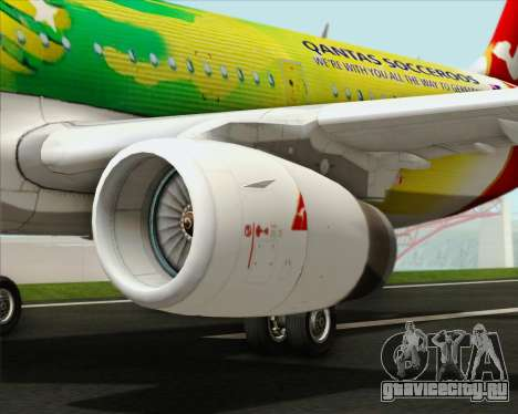 Airbus A321-200 Qantas (Socceroos Livery) для GTA San Andreas двигатель