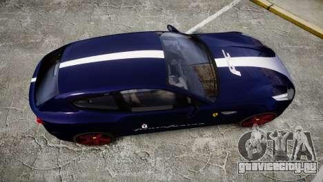 Ferrari FF 2012 Pininfarina Blue для GTA 4 вид справа
