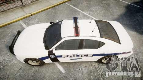 GTA V Bravado Buffalo Liberty Police [ELS] для GTA 4 вид справа