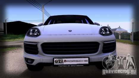 Porsche Cayenne 2015 для GTA San Andreas вид сзади слева
