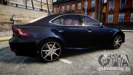 Lexus IS 350 F-Sport 2014 Rims2 для GTA 4 вид слева