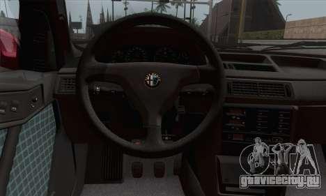 Alfa Romeo 155 Q4 1992 Stock для GTA San Andreas вид сзади слева