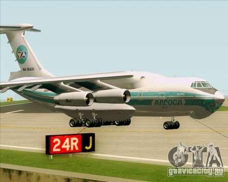 ИЛ-76ТД АЛРОСА для GTA San Andreas вид слева