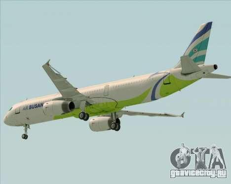 Airbus A321-200 Air Busan для GTA San Andreas вид сверху