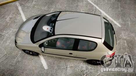 Peugeot 206 XS 1999 для GTA 4 вид справа