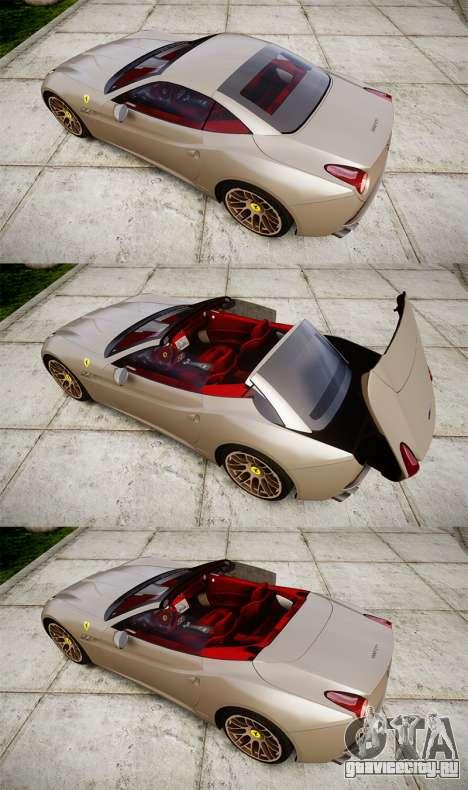 Ferrari California [EPM] для GTA 4 вид сбоку