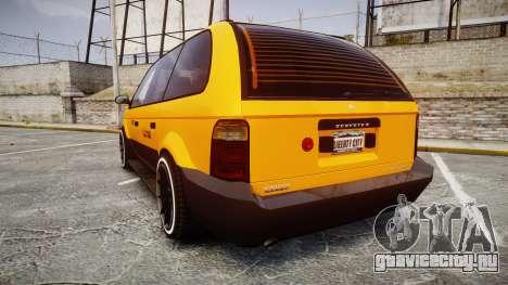 Schyster Cabby Taxi для GTA 4 вид сзади слева